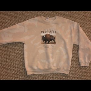 Bleached dyed sweater